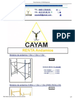 Renta Andamios _ CAYAM Maquinaria