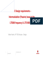 LTE Design Requirements - Intermodulation (Passive) Issue on LTE800_ 1800