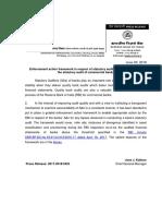 RBI Statutory Auditor Enforcement Framework Press Release