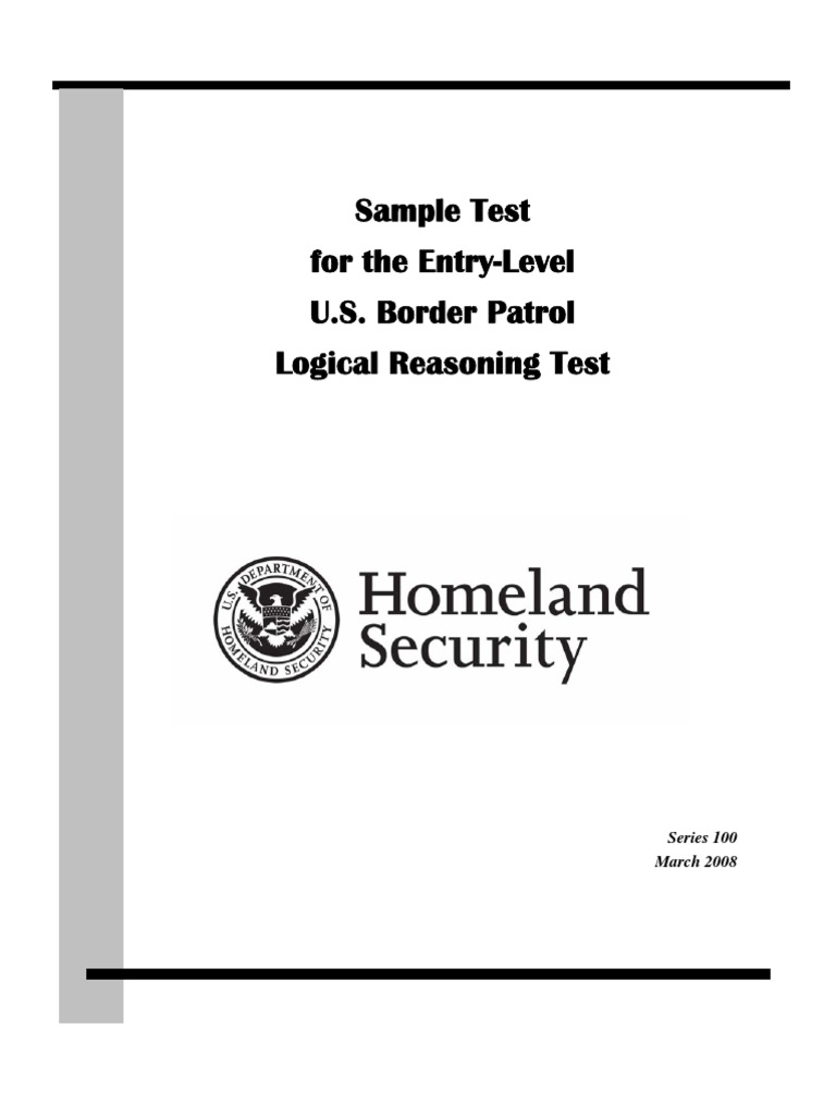 Sample U.S. Border Patrol Logical Reasoning Test