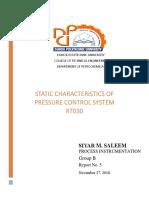 Process Instrumentation Report No.5