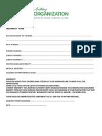 Kidz for Conservation Indemnity Form