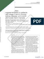 Probiotic Dietary Supplementation St3-4CKD 6mo Canada CurMedResOpin 2009