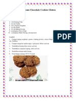 Sorghum Chocolate Cookies Gluten