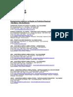 Lista de Aparelhos da Prefeitura (Saúde)