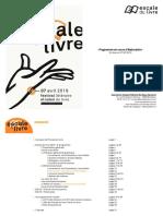 Pré-programme Escale du Livre 2019