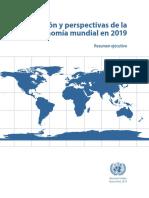 Situación y Perspectivas de La Economía Mundial 2019
