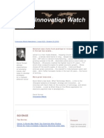 Innovation Watch Newsletter 9.22 - October 23, 2010