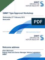 Type Approval Workshop Newcastle