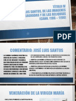 Título IV Del Culto de Los Santos, De Las Imagenes Sagradas y de Las Reliquias (Cann. 1186 – 1190)