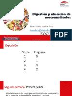 Digestión y Absorción de Biomoléculas