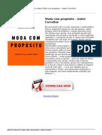 Baixar Livro Online Moda Com Proposito Andre Carvalhal