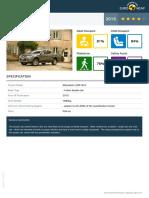 Euroncap 2015 Mitsubishi l200 Datasheet