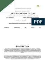 Ruta de Mejora 2017-2018