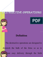 Destructive Operations Final PPT
