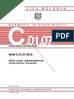 NCM C.01.07.2018. Clădiri Social Administrative.