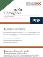 La Ecuación Homogénea