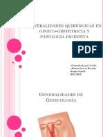 23. Generalidades en Gineco Obstetricia y Patología Digestiva