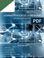 Sistemas operativos Administración de memoria