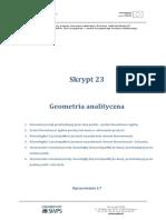 Skrypt 23 Geometria Analityczna Część 1