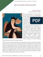 Teresa, Doctora de La Iglesia. Recordando Una Fecha Memorable – Teresa, De La Rueca a La Pluma