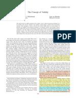 Borsboom, D., Mellenbergh, G. J., & Van Heerden, J. (2004). the Concept of Validity. Psychological Review, 111(4),1061-1071