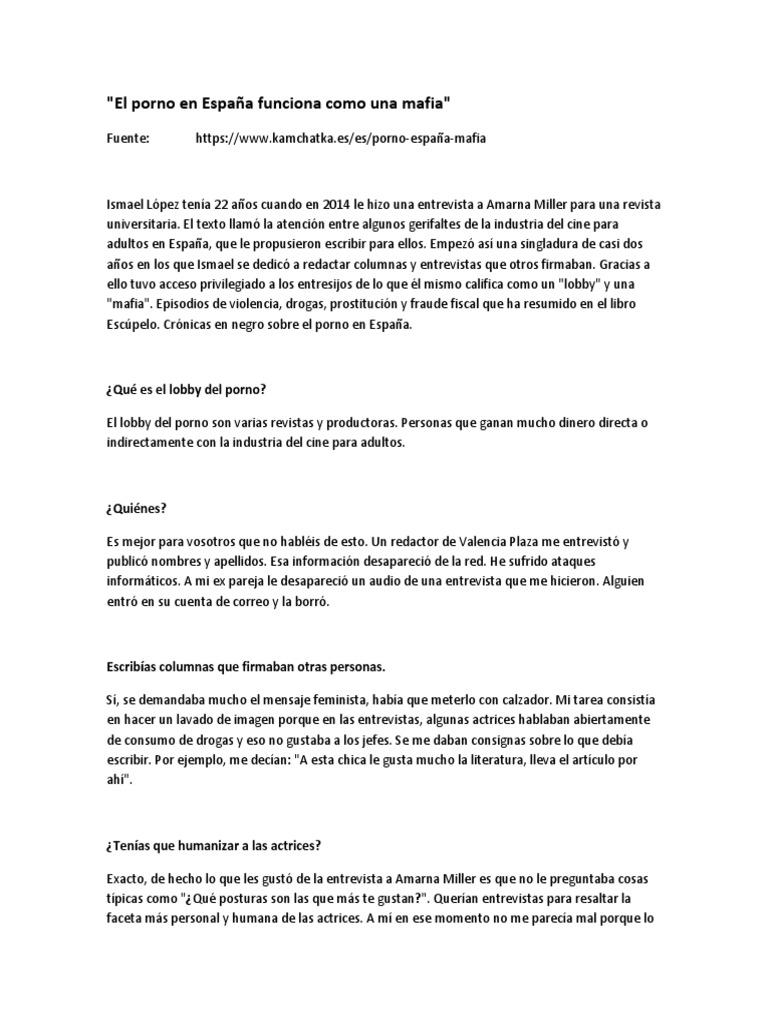 Actrices Porno De Aspecto Infantil entrevista_el porno en españa funciona como una mafia.docx