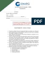 Estudo Dirigido III GenEvo Enfermagem