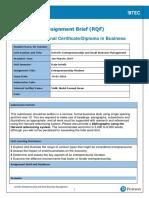 Assignment Brief Unit 9 E&SBM