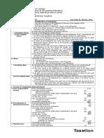 Notes on Individua Taxation