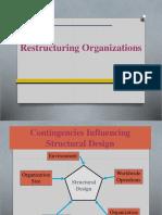 14 - Restructuring Organizations