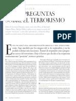 Cinco Preguntas Sobre El Terrorismo