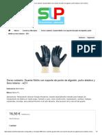 688-NCE_N - Dorso Cubierto. Guante Nitrilo Con Soporte de Punto de Algodón, Puño Elástico y Forro Interior