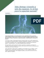 Sistemul limfatic distruge virusurile și elimină toxinele din organism.docx