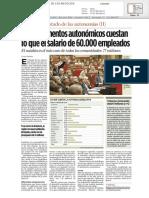 Coste de Parlamentos Autonómicos