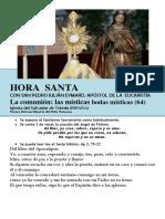 La Comunión, Bodas Místicas (64) HORA SANTA Con San Pedro Julián Eymard.
