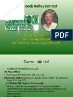 Shamrock Valley Ent Ltd Orientation