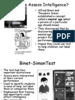 binet terman and assessment
