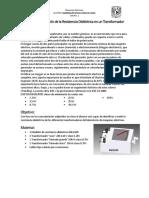 Practica 2 Medicion de Resistencia Dielectrica en Un Transformador