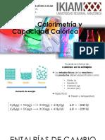 Entalpía, Calorimetría y Capacidad Calórica