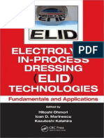 Electrolytic in-Process Dressing (ELID) Technologies