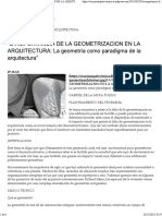 """""""LA IMPORTANCIA de LA GEOMETRIZACION en LA ARQUITECTURA_ La Geometría Como Paradigma de La Arquitectura"""" _ Ciencia Arquitectónica"""