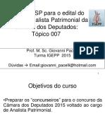 Topico 007 - Afo e Casp - Analista Patrimonial 2015