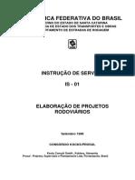 Is 01 - Elaboração de Projetos Rodoviários (DEINFRA)