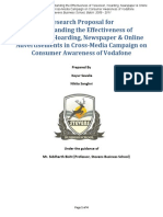 Market Research Proposal To Find  Cross-Media Campaign on Consumer Awareness of Vodafone