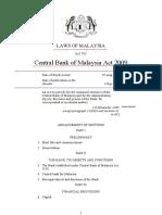Act de INFIINTARE (ESTABLISH) Banca Centrala Malaysia. ROMANIA NU A INFIINTAT BNR (NOT ESTABLISHED)