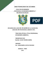 Tesis-Influencia del agua del río mariño en la calidad del agua del río pachachaca, Abancay 2016.pdf