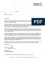 Auckland Council's letter to Lime on February 19