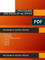 Auditing Procedures & Rules of AG Office