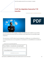 Como Fiscaliza El SAT Los Depósitos Bancarios_ El Cruce de La Información - ContadorMx